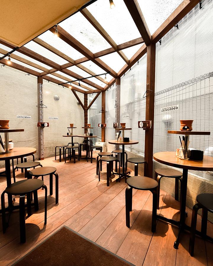 博多の居酒屋【博多ホームラン食堂】のテラス席